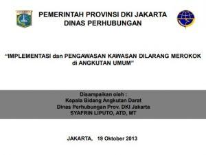 Implementasi dan Pengawasan Kawasan Dilarang Merokok di Angkutan Umum