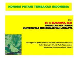 Kondisi Petani Tembakau Indonesia