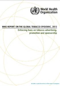 WHO Report on The Global Tobacco Epidemic 2013