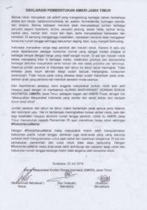 Deklarasi AMKRI Jawa Timur