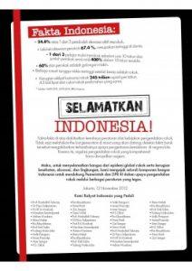 Petisi SELAMATKAN INDONESIA Tokoh Nov 2012