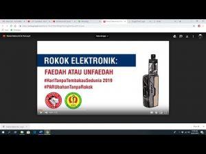 Rokok Elektronik faedah atau unfaedah