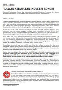 Press Release Lawan Kejahatan Industri Rokok