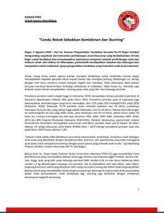 Siaran Pers Diskusi Publik Candu Rokok dan Kerugian Ekonomi 6 Agustus 2018