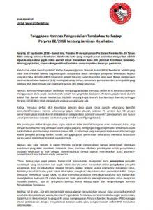Siaran Pers Pajak Rokok untuk JKN 24 Sept 2018