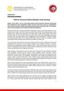 Siaran Pers Peluncuran Hasil Penelitian PKJSUI_Rokok dan Stunting_3 Agt 2018