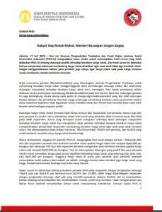 Siaran Pers Rakyat Dukung Harga Rokok Mahal_PKJSUI Komnas PT 17 Juli 2018