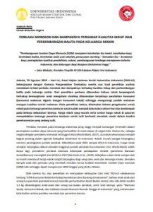 Siaran Pers Studi Kualitatif Perilaku Merokok thdp Stunting dan Penerima Bansos_29 Agt 2019