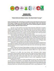 Siaran Pers update Perkembangan Rokok Elektronik 24 Sept 2019
