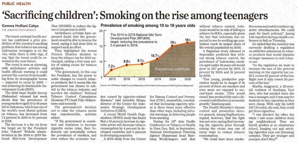 Sacrificing Children Smoking on the Rise Among Teenagers