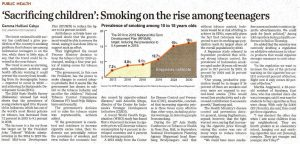 Sacrificing Children Smoking on the Rise Among Teenagers