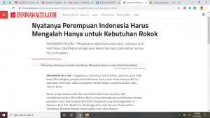 Nyatanya Perempuan Indonesia Harus Mengalah Hanya Untuk Kebutuhan Rokok