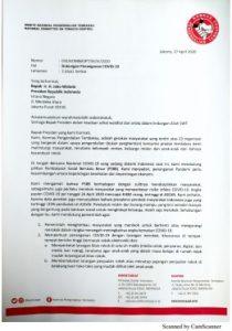 Surat Dukungan Penanganan Covid-19