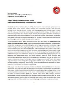 Catatan Khusus Ketum Komnas PT dalam HTTS 2020