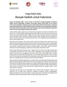 Harga Rokok Naik, Banyak Hadiah untuk Indonesia