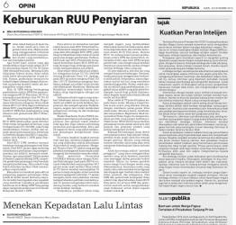 E-Paper_Keburukan RUU Penyiaran_Republika_2013