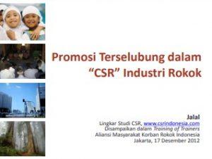 Paparan_Promosi Terselubung dalam CSR Industri Rokok_AMKRI_2012