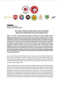 Siaran Pers Youth Talk HTTS Berhenti dari Adiksi Rokok Tanpa Harus Berganti Jenis