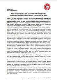 Siaran Pers_IDI dan Organisasi Kesehatan Dukung Revisi PP109
